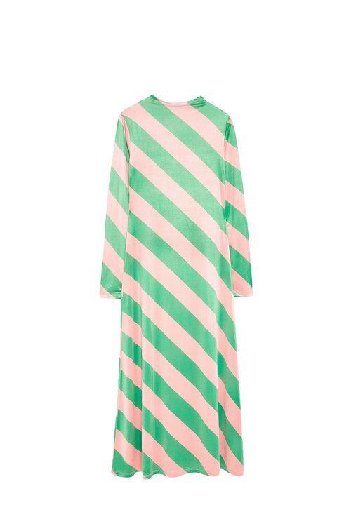 Vestido de rayas verdes de la colección Sfera otoño/invierno 2019-2020 Especial Navidad