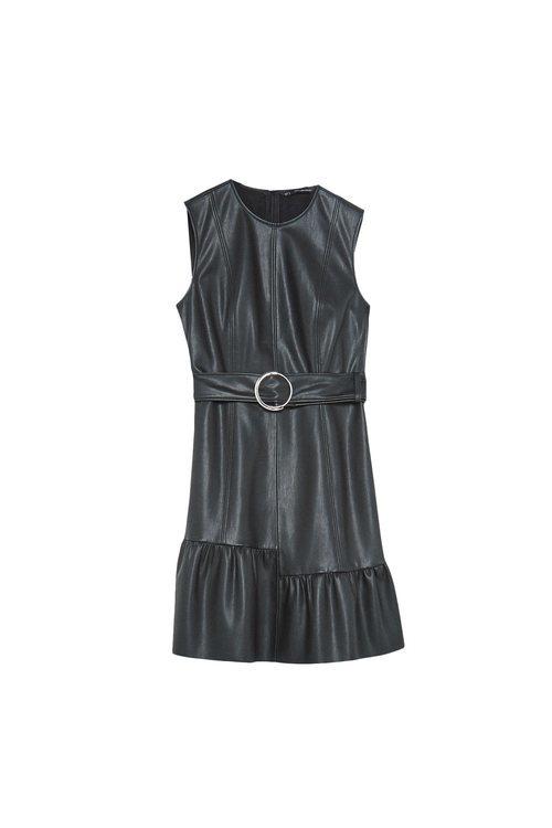 Vestido de cuero de la colección Sfera otoño/invierno 2019-2020 Especial Navidad