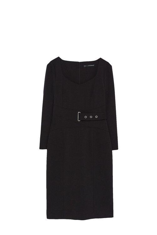 Vestido largo negro de la colección Sfera otoño/invierno 2019-2020 Especial Navidad
