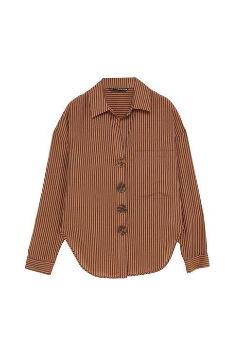 Blusa de rayas marrón de la colección Sfera otoño/invierno 2019-2020 Especial Navidad