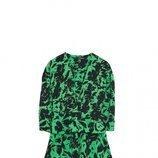 Vestido verde animal print de la colección Sfera otoño/invierno 2019-2020 Especial Navidad