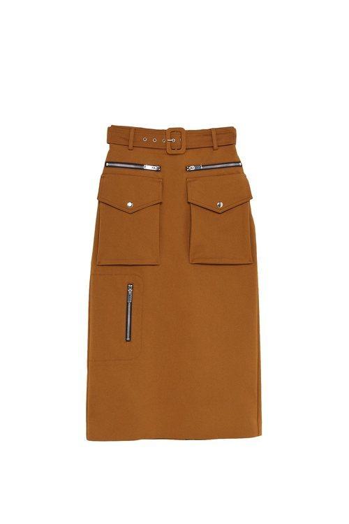 Falda marrón midi de la colección Sfera otoño/invierno 2019-2020 Especial Navidad