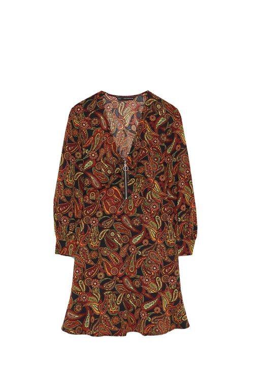 Vestido estampado de la colección Sfera otoño/invierno 2019-2020 Especial Navidad