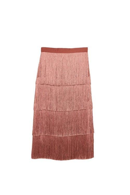 Falda de tiras rosa de la colección Sfera otoño/invierno 2019-2020 Especial Navidad