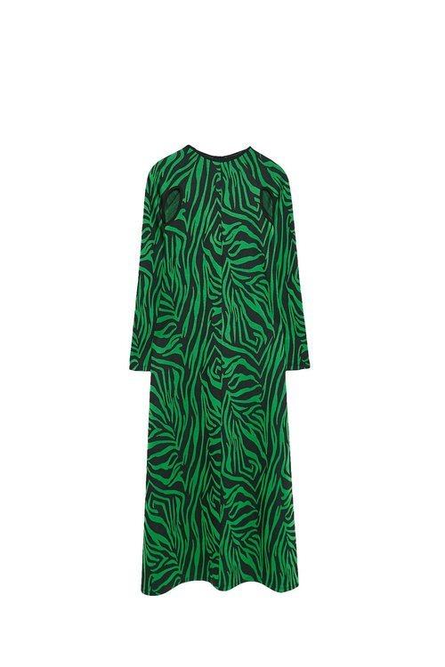 Vestido verde largo de la colección Sfera otoño/invierno 2019-2020 Especial Navidad
