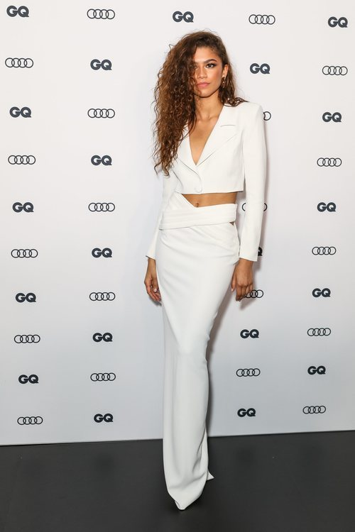 Zendaya con un dos piezas blanco en los Premios GQ Men 2019 en Sídney