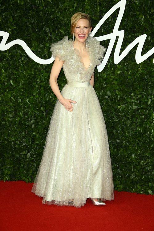 Cate Blanchett con vestido de Armani Privé en los British Fashion Awards 2019