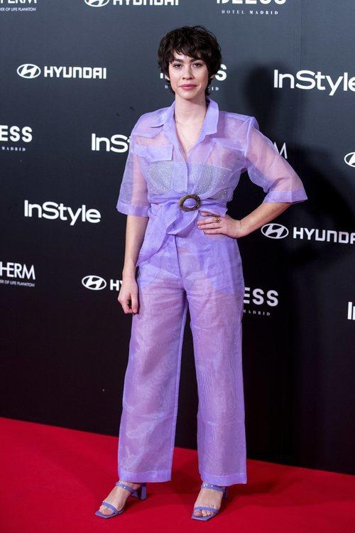 Greta Fernández con un total look malva en el 15 aniversario de la revista In Style