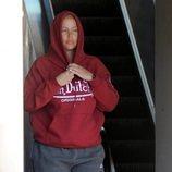 Amber Rose con sudadera y chandal de Nike en Los Ángeles