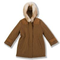 Abrigo de lana con capucha de la colección Chloé para niñas otoño/invierno 2011