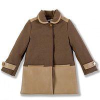 Abrigo con detalles en cuero de la colección Chloé para niñas otoño/invierno 2011