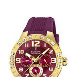Reloj de correa de silicona de la colección 'Golden Dream' de Festina