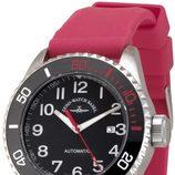 Reloj Zeno-Watch Basel de la línea Diver 500 con correa de caucho roja