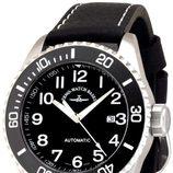 Reloj Zeno-Watch Basel de la línea Diver 500 con correa de caucho negra
