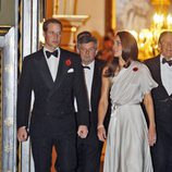 Catalina de Cambridge con vestido gris de gala