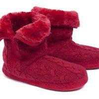 Botitas rojas del pijama 'Merveille' de la nueva colección de Etam