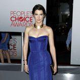 El look azul eléctrico de Cobie Smulders en los People's Choice Awards 2012