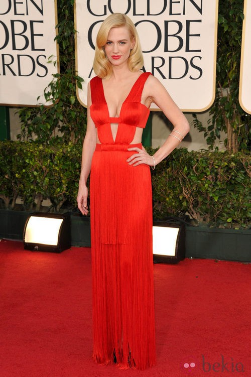 January Jones en los Globos de Oro 2011