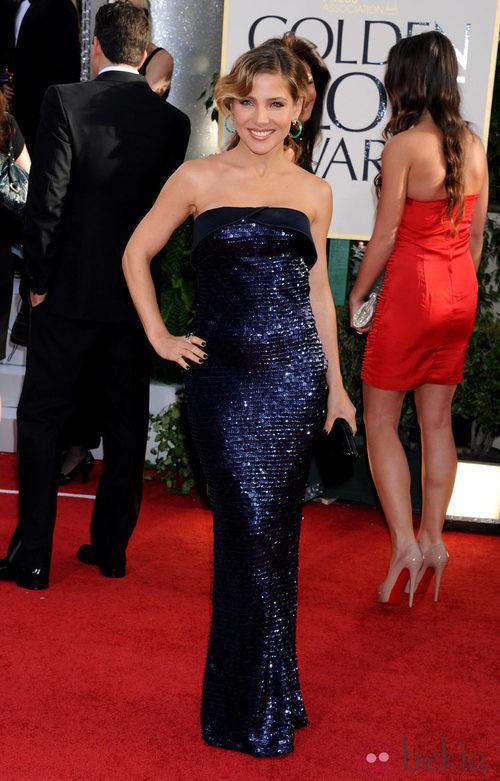 Elsa Pataky con un vestido de Armani en los Globos de Oro 2011