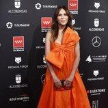 Antonia San Juan, vestida de naranja Premios Feroz 2020