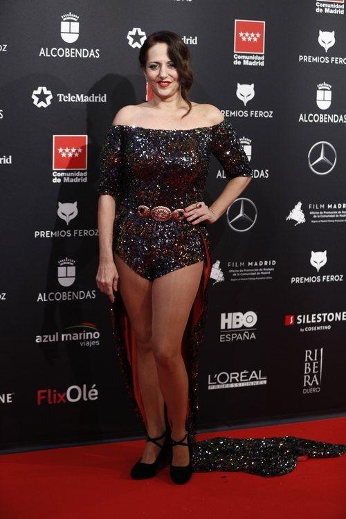 Yolanda Ramos, con body con cola en los Premios Feroz 2020
