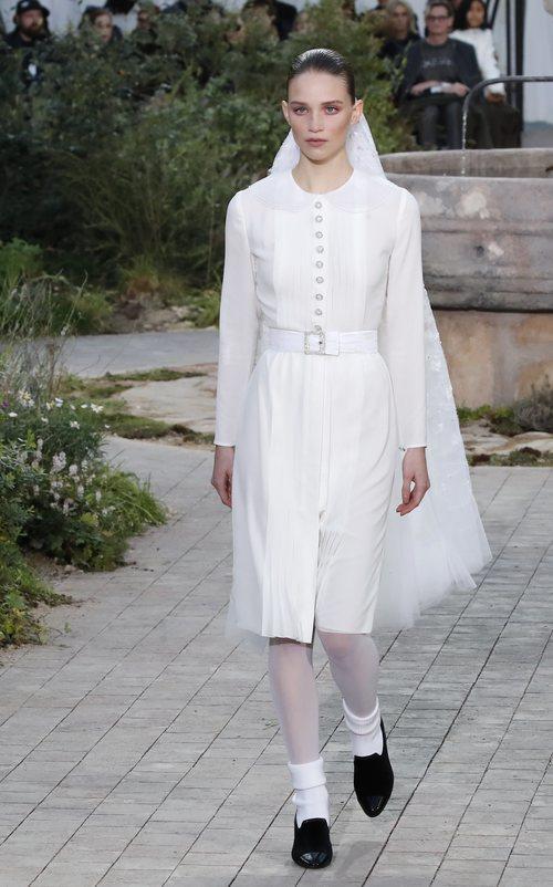 Propuesta de novia de la colección primavera/ verano 2020 de Alta Costura de Chanel