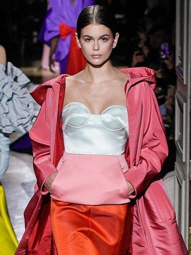 Corpiño de la colección primavera/ verano 2020 de Alta Costura de Valentino