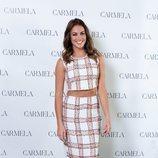 Lara Álvarez imagen de la firma de calzado Carmela para la colección primavera-verano 2020