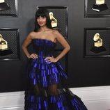 Jameela Jamil con un vestido de Georges Chakra Couture en los Grammy 2020
