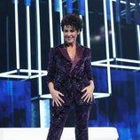 Nina con un traje de Juan Avellaneda durante la gala 2 de 'OT 2020'