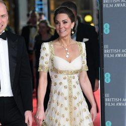 Kate Middleton, vestida de blanco y dorado en los Premios BAFTA 2020