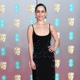 Emilia Clarke, vestida toda de negro en los Premios BAFTA 2020