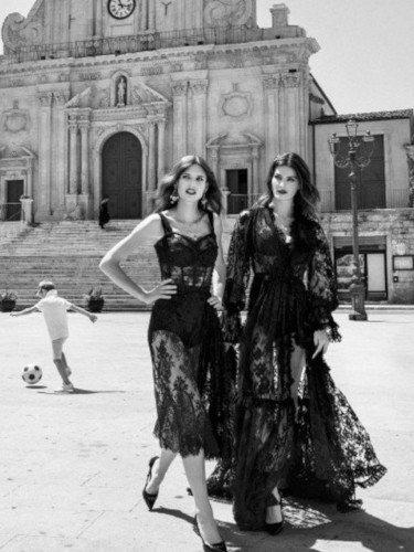 Vestidos con transparencias de la colección verano 2020 de Dolce&Gabbana