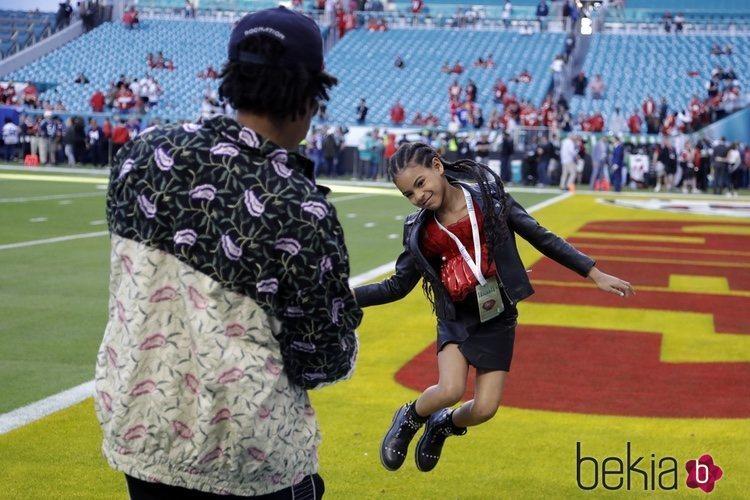 Blue Ivy Carter en la final de la Super Bowl