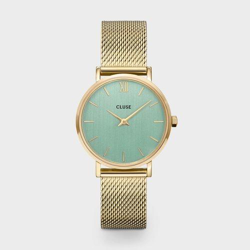 Reloj Boheme para mujer dorado con la esfera verde de la colección primavera/verano 2020 de Cluse