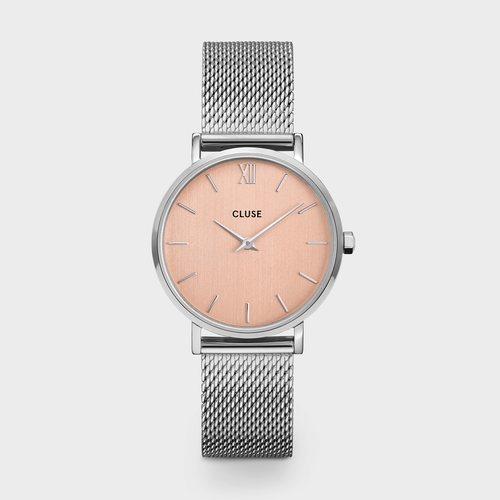 Reloj Boheme para mujer plateado con la esfera rosa de la colección primavera/verano 2020 de Cluse