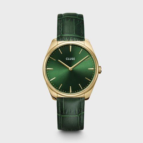 Reloj Feroce para mujer en color verde con detalles dorados de la colección primavera/verano 2020 de Cluse