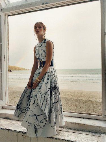 Vestido estampado de la colección primavera/verano 2020 de Alexander McQueen
