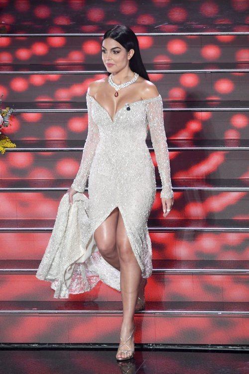 Georgina Rodríguez en el 70th Italian Song Festival 2020