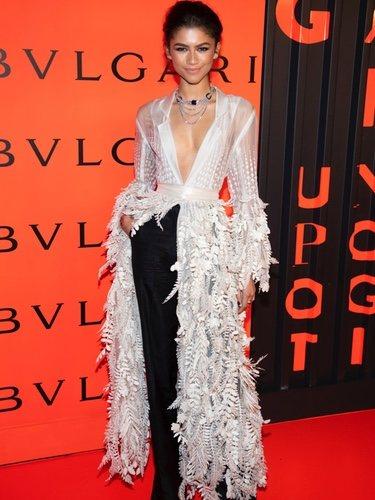 Zendaya en la Bulgari New York Fashion Week party