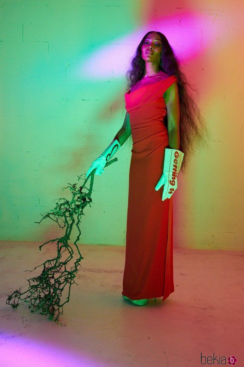 Vestido rojo de la colección primavera/verano 2020 de Vivienne Westwood
