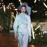 Vestido de lunares azul otoño/ invierno 2020 de Rodarte