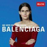 Vestido burdeos de terciopelo de la colección primavera/verano 2020 de Balenciaga