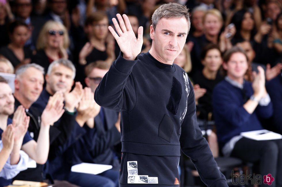 Raf Simons en la París Fashion Week de 2014