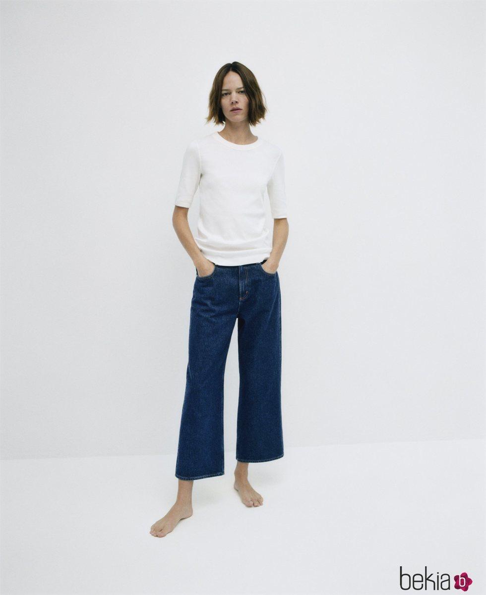 Pantalón de algodón orgánico de la colección 'Denim by COS'
