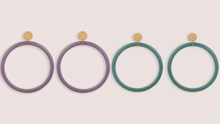 Pendientes de aro de la colección 'Tetra' de Malababa