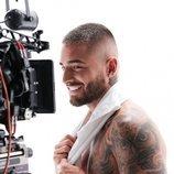 Maluma durante el rodaje del anuncio de la colección primavera/verano 2020 de Calvin Klein