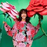 Jersey oversize con estampado de flores de la coleción de María Escoté para Desigual