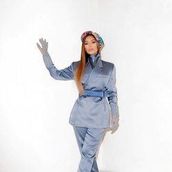 Kim Kardashian con un total look masculino de Dior