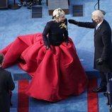 Lady Gaga vestida de Schiaparelli en la toma de posesión de Joe Biden